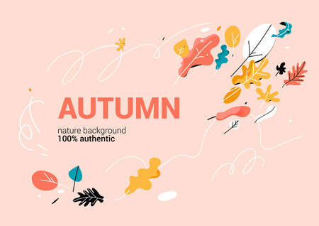 Trendy banner with color leaves Banque d'images - 155978116