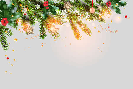 Fairy background template and tree branches