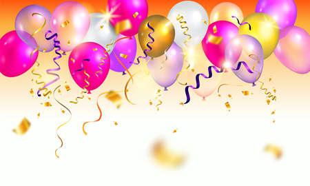 Bright holiday balloons