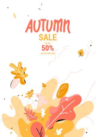 Autumn sale design background