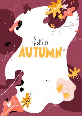 Trendy style autumn leaves