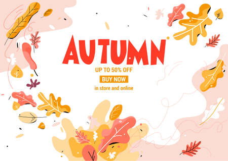 Trendy Fall leaves Vectores