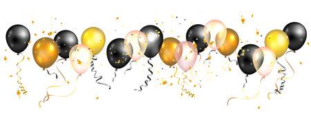 Black and yellow balloons.