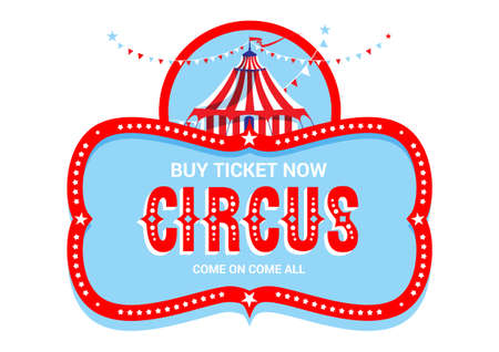 Circus sign isolated. Vectores