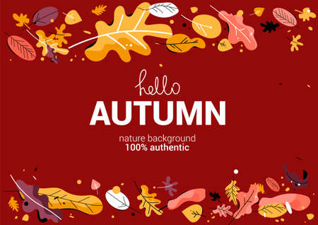 Horizontal autumn background.