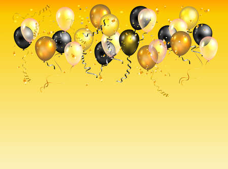 Color holiday balloons card.