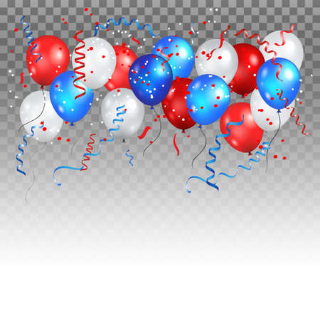 Holiday balloons in traditional colors