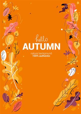 Fall drawn leaves