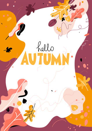 Autumn illustration with place for text
