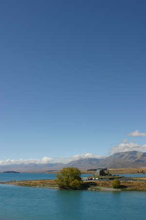 tekapo: Lake Tekapo Stock Photo