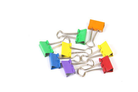 papier bureau: Office paperclips Stockfoto