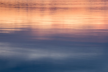 reflexion: Reflexión del lago puesta de sol Foto de archivo