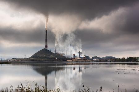Karabash, Chelyabinsk 지역, 러시아의 산업 풍경