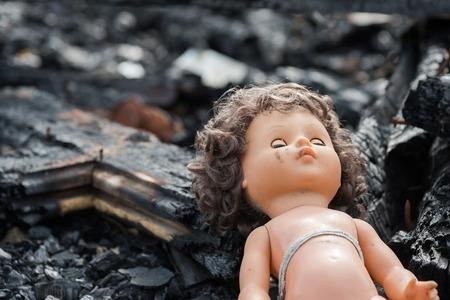 abandonment: Doll house interior ruins, abandonment and blight Stock Photo