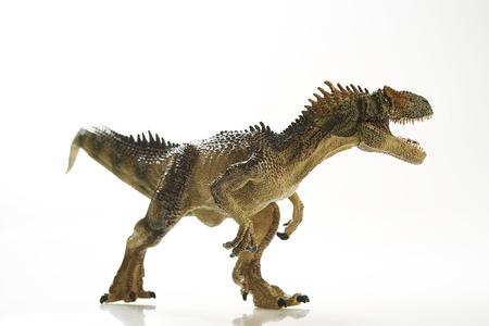 dinosaurio: Dinosaurio aislado con la ruta y el camino de recortes