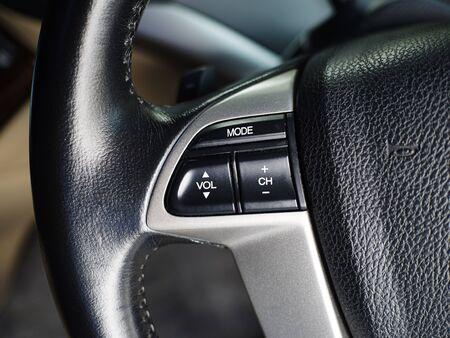 Car interior details collage close up photo photo