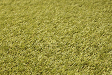 closeup of artificial beautiful green grass Stock Photo
