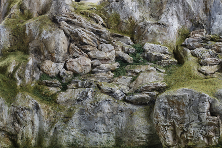 detailed miniature mountain model. Close up photo
