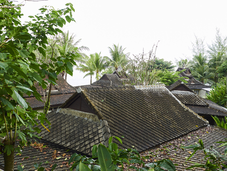 Close up hotel roof at Moo Koh Surin Thailand.