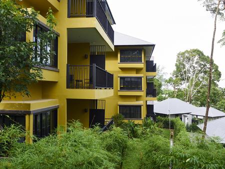 turism: Beautiful hotel interior design at Moo Koh Surin Stock Photo