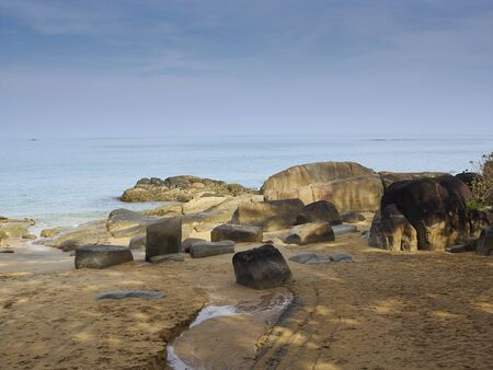surin: Travel destination: exotic scene of natural rocks and transparent sea at Surin islands national park in PhangNga Thailand