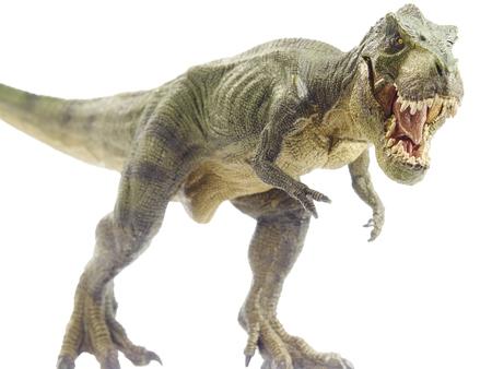 juguetes: Dinosaurio aislado y el modelo monstruo en blanco