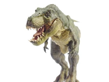 Geïsoleerde dinosaurus en monster model in het wit