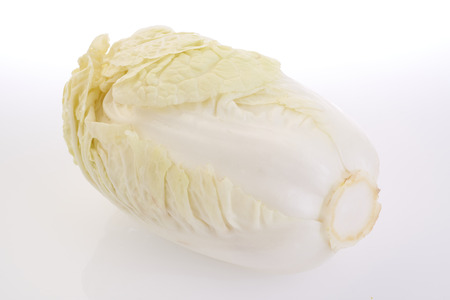 shooting fresh white cabbage on white background