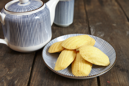 irresistible: French traditional madeleines cookie, isolated