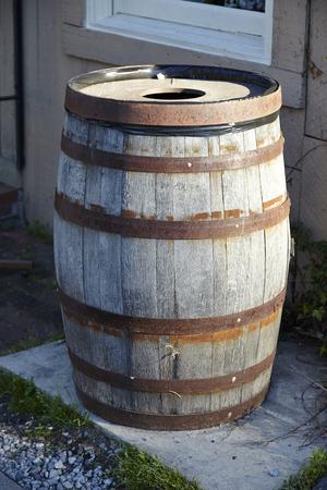 oak barrel: image of classic wood barrel - Old oak barrel