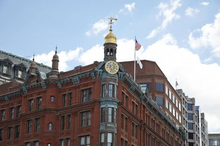 Washington DC, Building top art shapes, United Sates