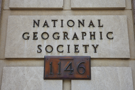 geographic: National Geographic Society Sign - Washington DC - USA