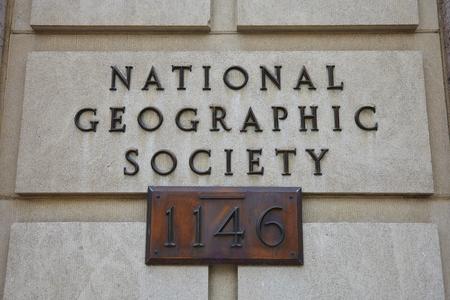 national geographic: National Geographic Society Sign - Washington DC - USA