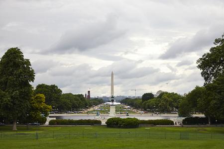 Washington DC, Kapitol-Geb�ude in einem bew�lkten Tag Lizenzfreie Bilder
