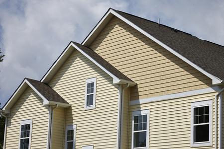 Wohnhaus mit Sahne Abstellgleis Lizenzfreie Bilder