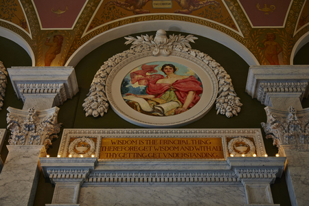 congress: Interior of the Library of Congress in DC - USA