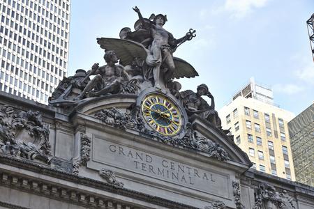 Statue of Mecury an der Grand Central Station in New York City Lizenzfreie Bilder