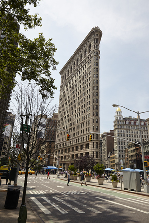flat iron: The Flat Iron Building in New York City - USA Editorial