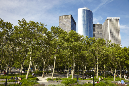 uptown: Central park at sunny day, New York City