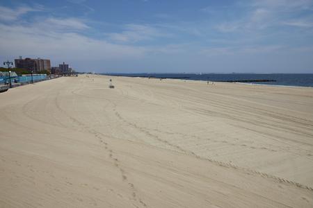 coney: Coney Island beach in New York City - USA Stock Photo
