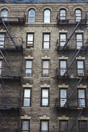 apartment buildings in New York City - USA