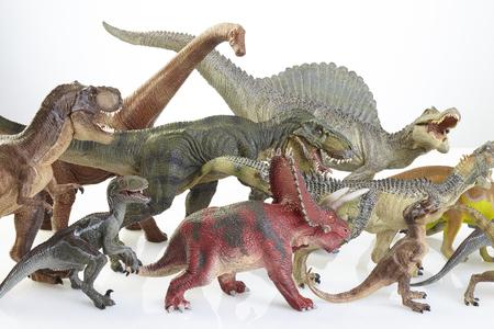 Isoliert Dinosaurier auf wei�em Hintergrund