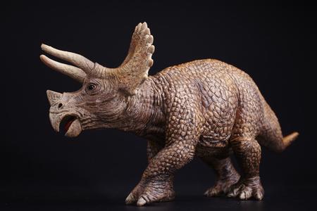Isolated dinosaur on black background