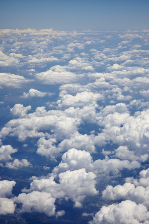 sparse: blue sky with clouds closeup - beautiful sparse clouds