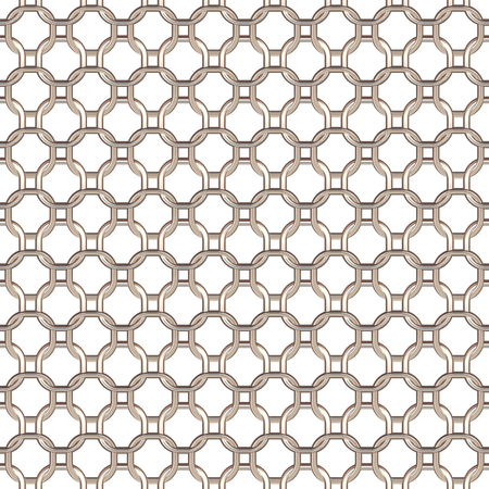 chainlink fence: Wired Fence. Black Ring Cage on White Background.