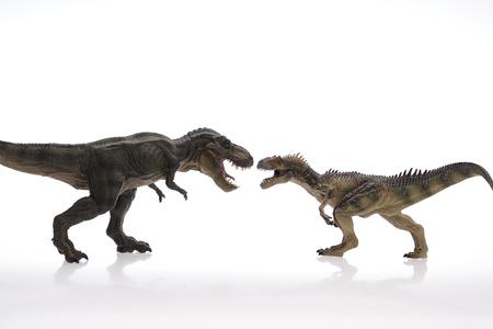 Dinosaur Close Up - Dinosaurier in wei�em Hintergrund Lizenzfreie Bilder