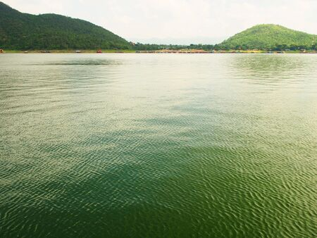 Beauty mountain and the river, Kanchanaburi province, Thailand
