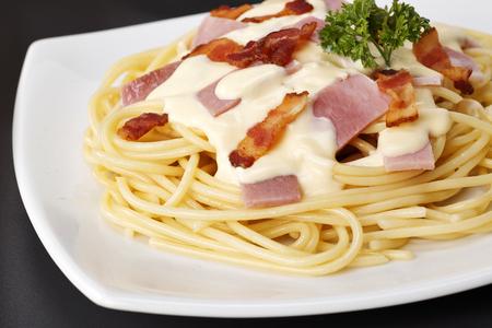 Spaghetti Carbonara Lizenzfreie Bilder