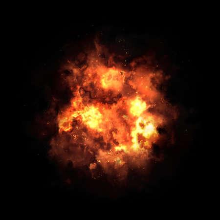 smolder: Orange fire flames on a black background