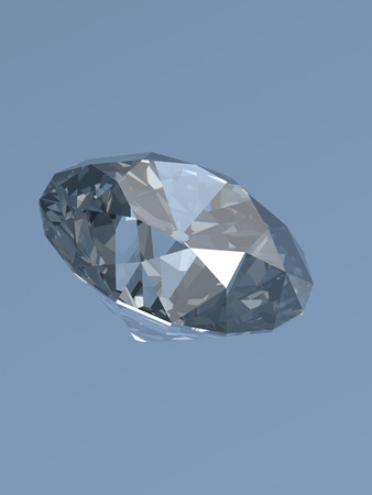 diamonds isolated: Diamonds isolated on blue 3d model